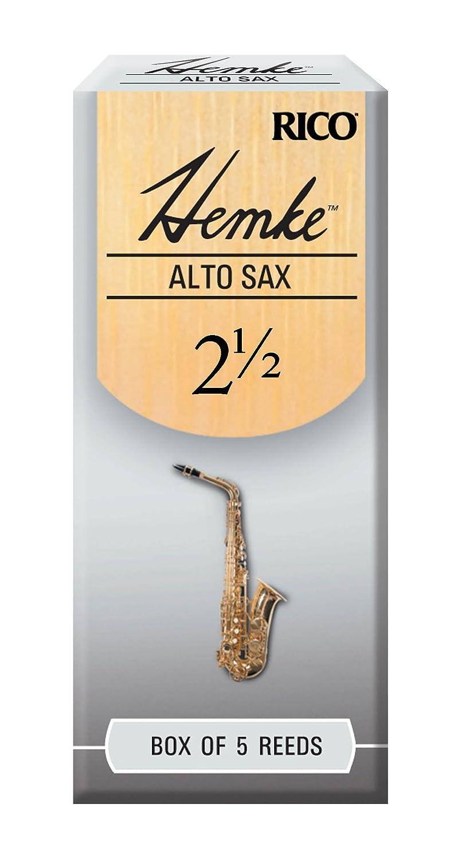 Hemke Alto Sax Reeds, Strength 2.5, 5-pack Rico RHKP5ASX250