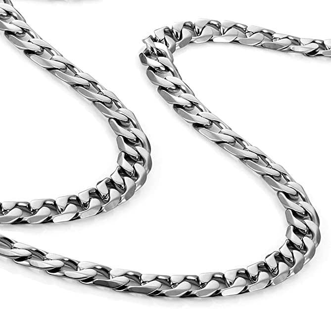 Stainless steel round box necklace 53-58cm unisex mens womens gift pendant chain silver 18k gold plated birthday anniversary