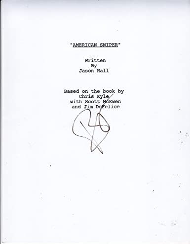 BRADLEY COOPER SIGNED AMERICAN SNIPER SCRIPT FULL 119 PAGE