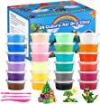 ifergoo Modeling Clay, 24 Colors Air Dry Clay Best Gift for Kids, Super Light Magic Clay with Sculpting Tools and Project, No-Sticky and Non-Toxic