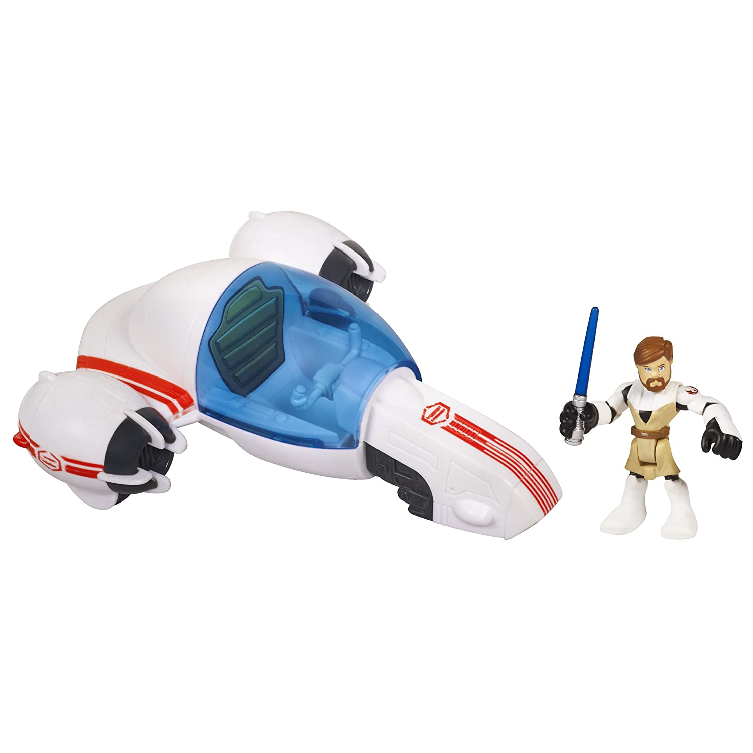 Star Wars Jedi Force Playskool Heroes Freeco Bike with Obi-Wan Kenobi Set Hasbro 32987
