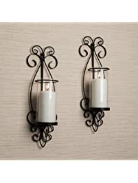Glass Wall Sconce   Set Of 2