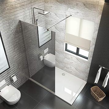 düravak ducha Walk In Mampara de ducha (Cristal de 6 mm Nano Leche ...