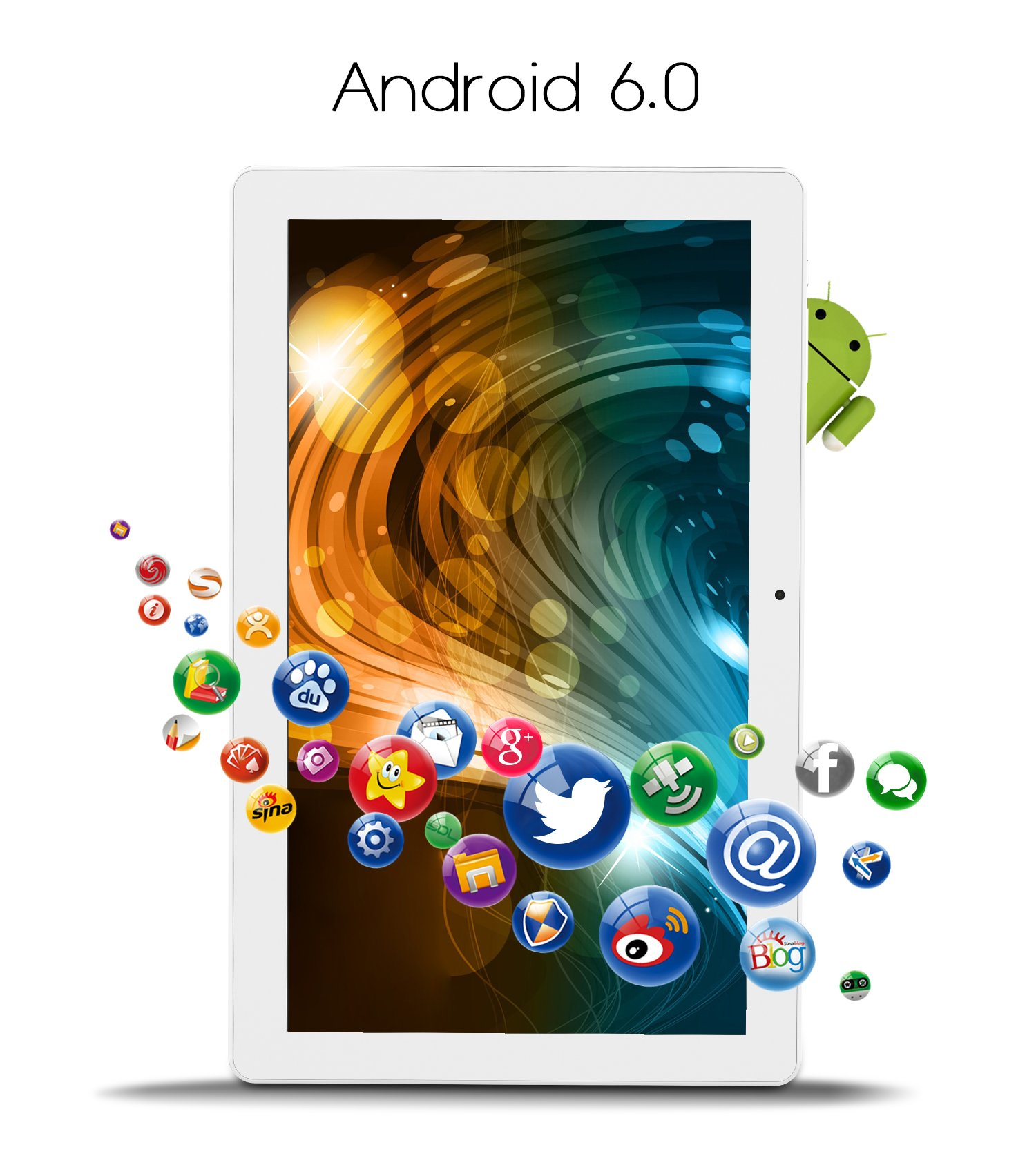 ALLDOCUBE iPlay10 / U83 10.6 inch 1920 x 1080 IPS Display Screen Tablet, Cube Android 6.0 Tablet Quad Core MTK MT8163 64-bit 1.3Ghz, 2GB+32GB, Support 5Ghz + 2.4Ghz WiFi and HDMI Output, White Silver by ALLDOCUBE (Image #4)