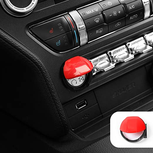 Voodonala Orange Engine Start//Stop Button Center Console Dashboard Switch Cover Trim for Ford Mustang 2015 2016 2017