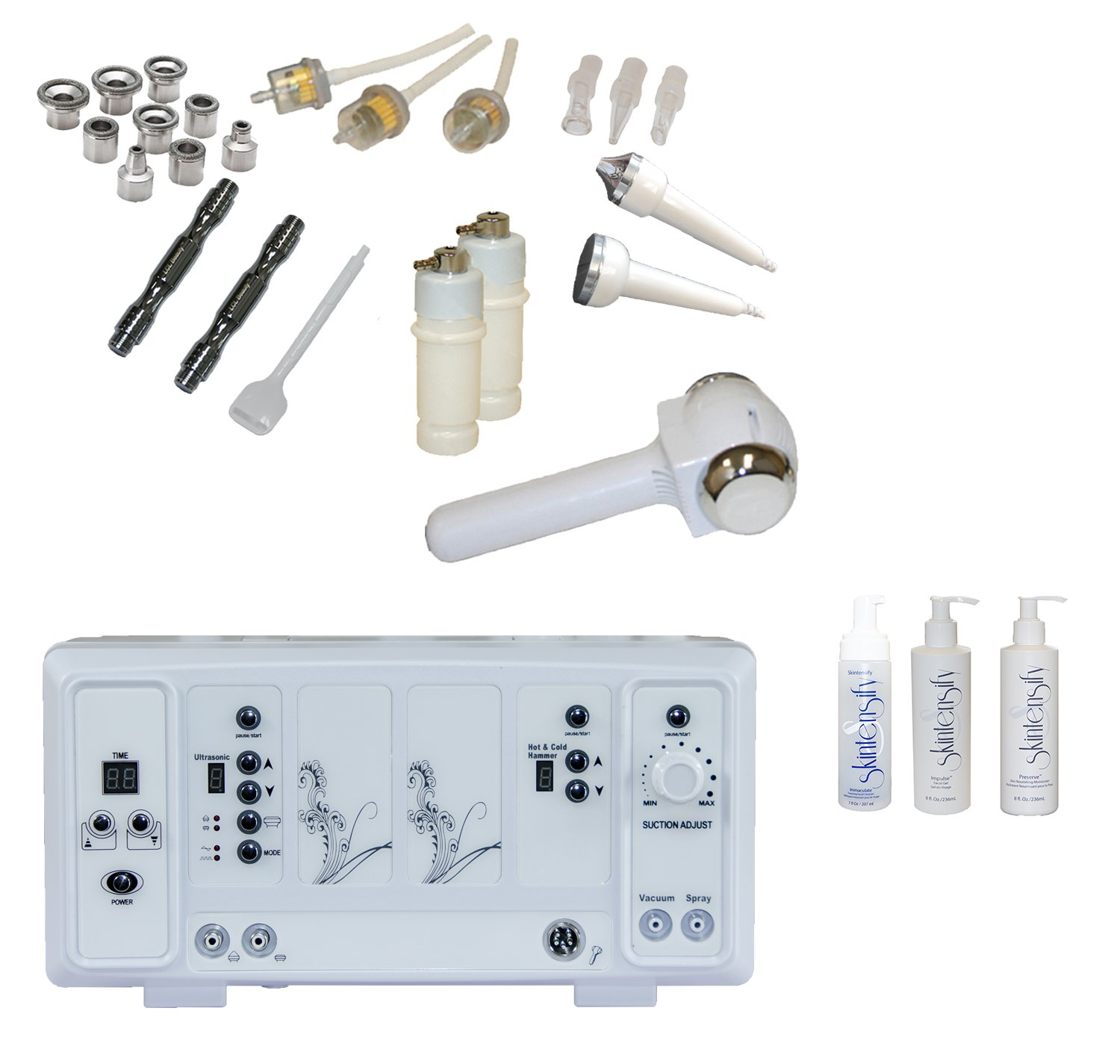 LCL Beauty Professional 5 in 1 Microdermabrasion Multi-Function Facial Machine