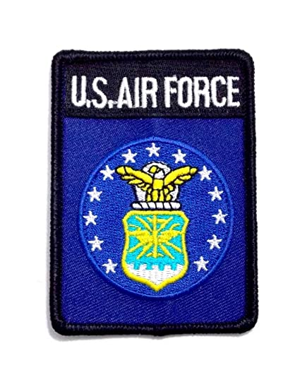 Amazon com: USAF Air Force Insignia Seal Embroidered Military Patch