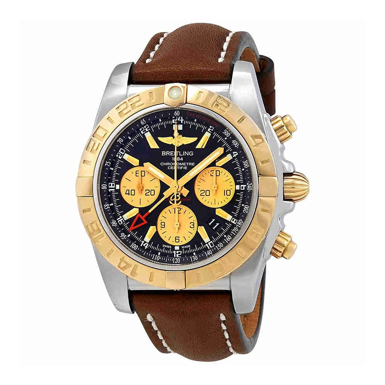Breitling Chronomatクロノグラフ自動ブラックダイヤルメンズ時計cb042012 /bb86 – 437 x B07DKQWWXJ