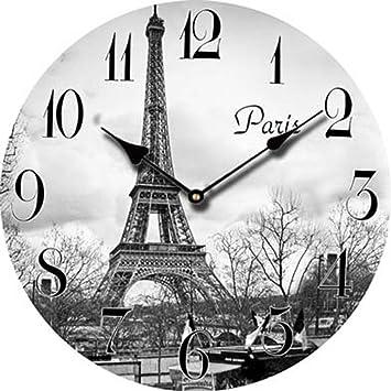 Reloj de pared moderno metálico reloj de salón decoración elegante reloj de pared redonda para dormitorio mesa de estudio de Navidad regalo de cumpleaños ...