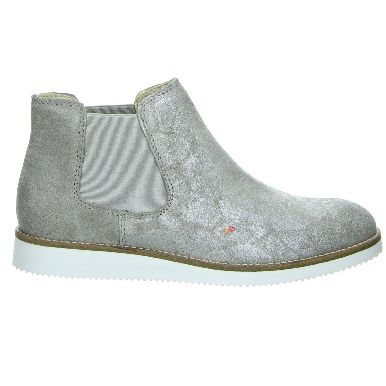 ONLINE schuhe B6022 Chelsea Stiefel Leder grau