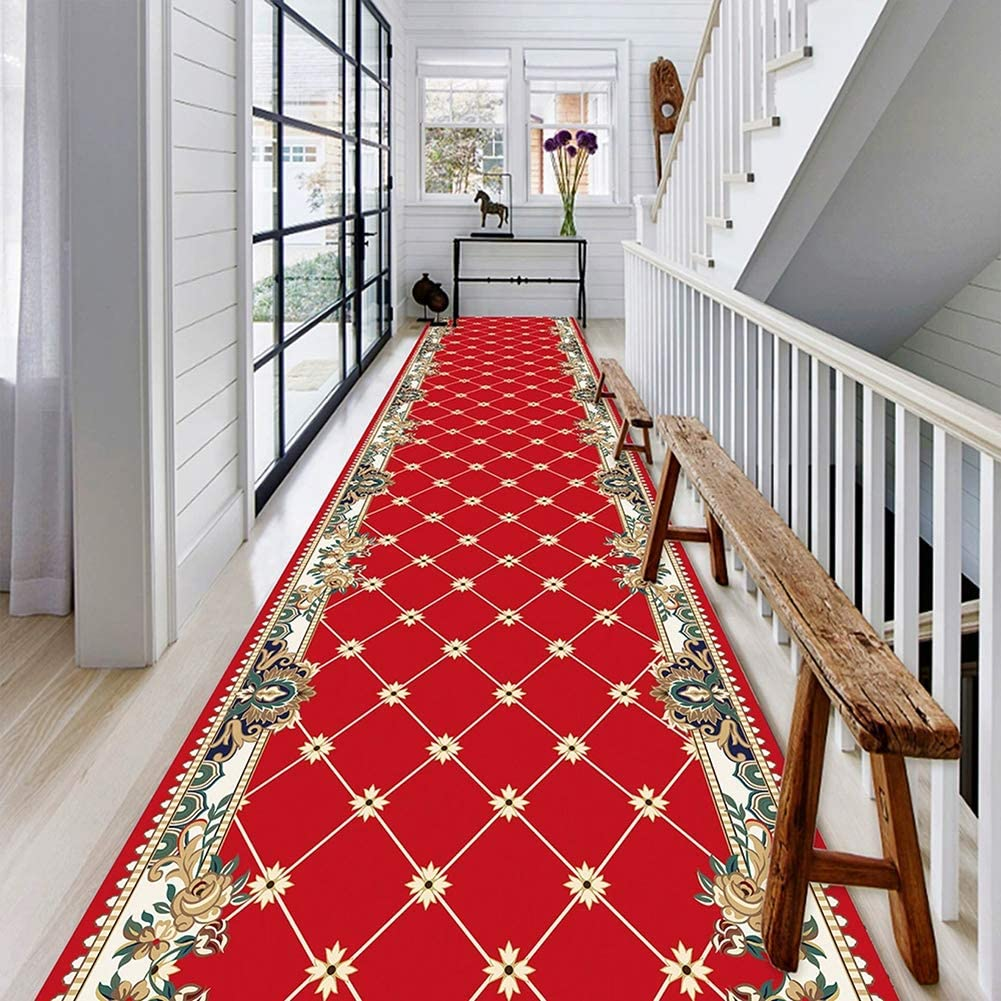 Modern HALL Runner Rugs /'LINEA/' grey NON-slip Stairs Width 67-100cm extra long