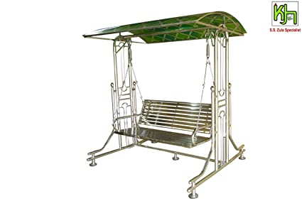 Kamleshzulahouse Stainless Steel Garden Zula Ss Outdoor Swing