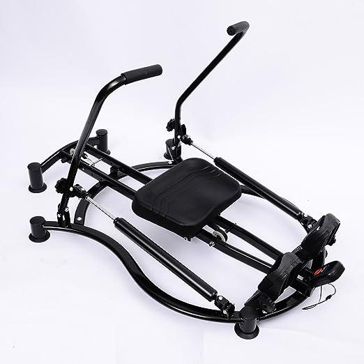Soozier Adjustable Fitness Home Workout Rower Glider Machine