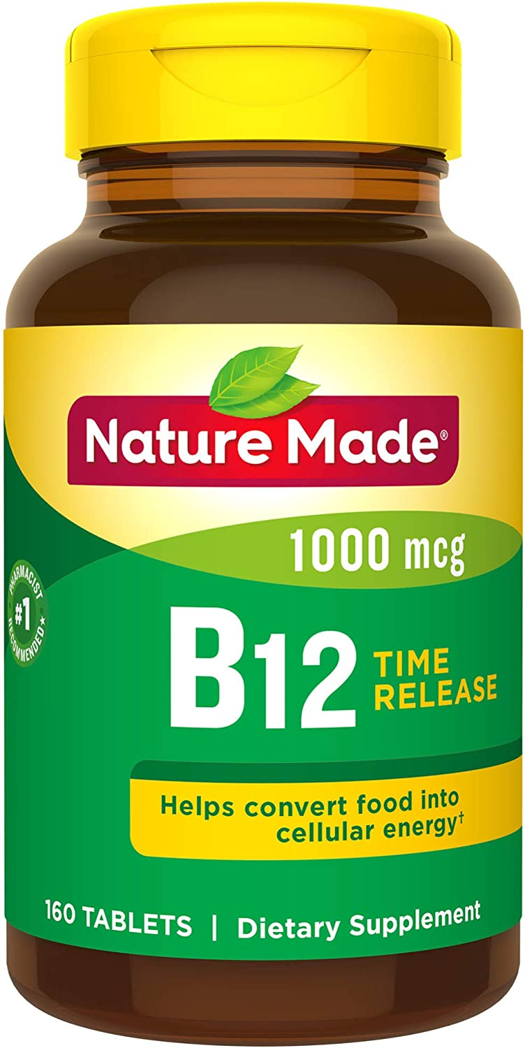 Nature Made Vitamin B-12 Timed Release Tablets, Value Size, 1000 Mcg, 160 Count 海外直送品
