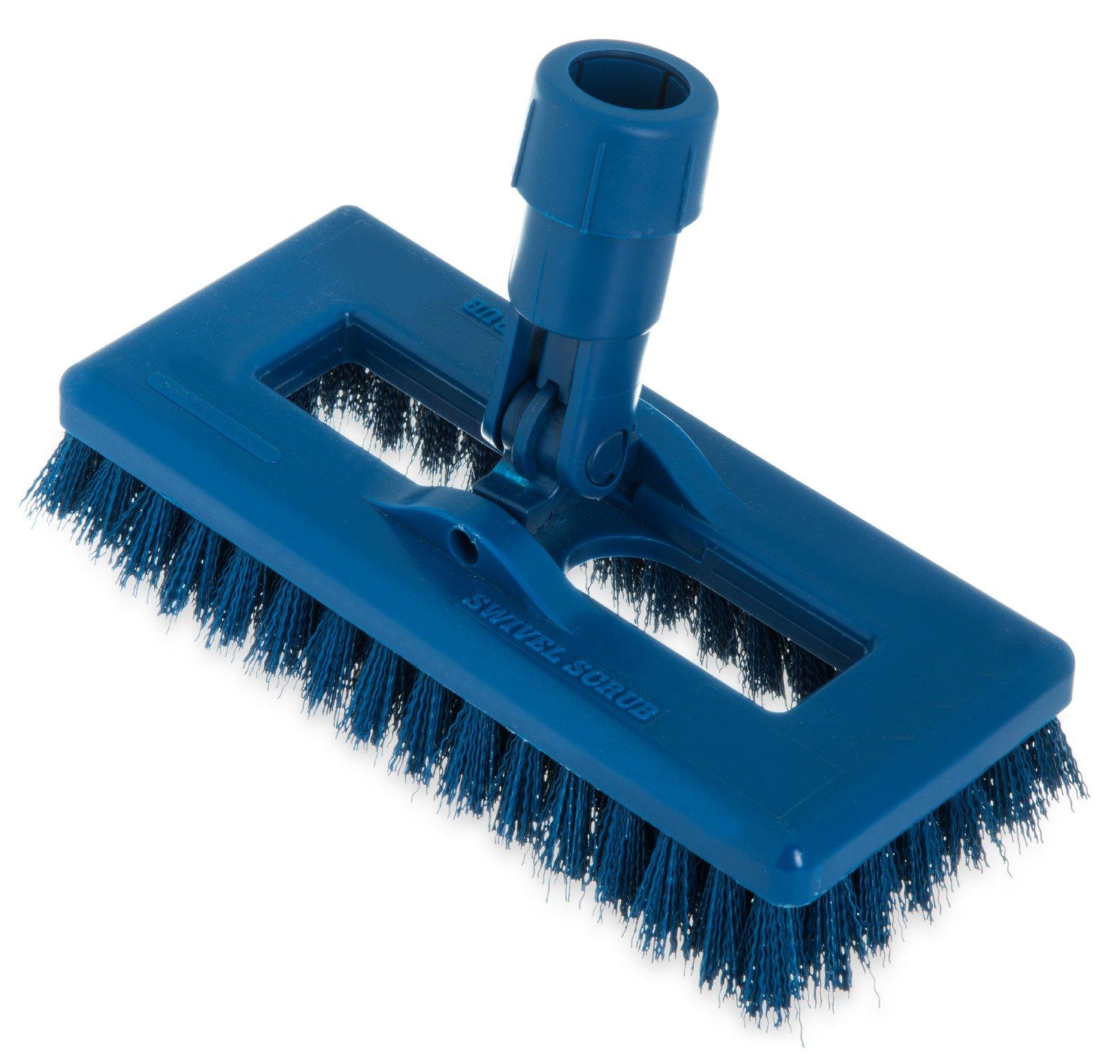Carlisle 363883114 Swivel Scrub Brush, 8'', Blue (Pack of 12)