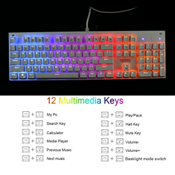 1ST Player Firerose MK3 Mechanical Gaming Keyboard with: Amazon co