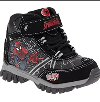 19d002c2324 Amazon.com: Marvel Spiderman Toddler Boys Hiking Boots (7): Shoes