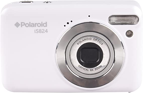 Polaroid iS824 Digital Camera (White) 16 MP 8X Optical Zoom