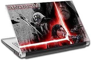 "Star Wars Kylo Ren Personalized LAPTOP Skin Cover Decal Vinyl Sticker L766, 15.6"""