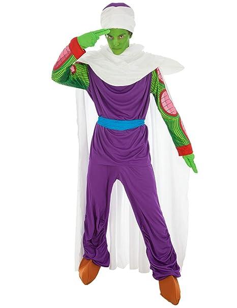 Disfraz Dragon Ball Piccolo 7tlg Verde púrpura - S: Amazon ...