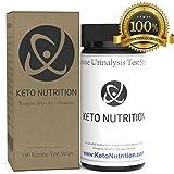 Keto Nutrition Ketogenic Test Ketone Strips - 100 Professional Grade Urinalysis Ketosis Testing Sticks for Ketogenic Diet, Paleo, Atkins Low Carb. Keto Strip Kit Measure Fat Burning Ketone Production.