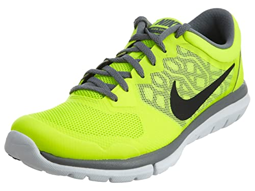 42e2344c562f Nike Nike Flex 2015 Rn Msl Mens Style 724933 Mens 724933-700 Volt black cool  Grey white 7.5 D(M) US  Amazon.in  Shoes   Handbags