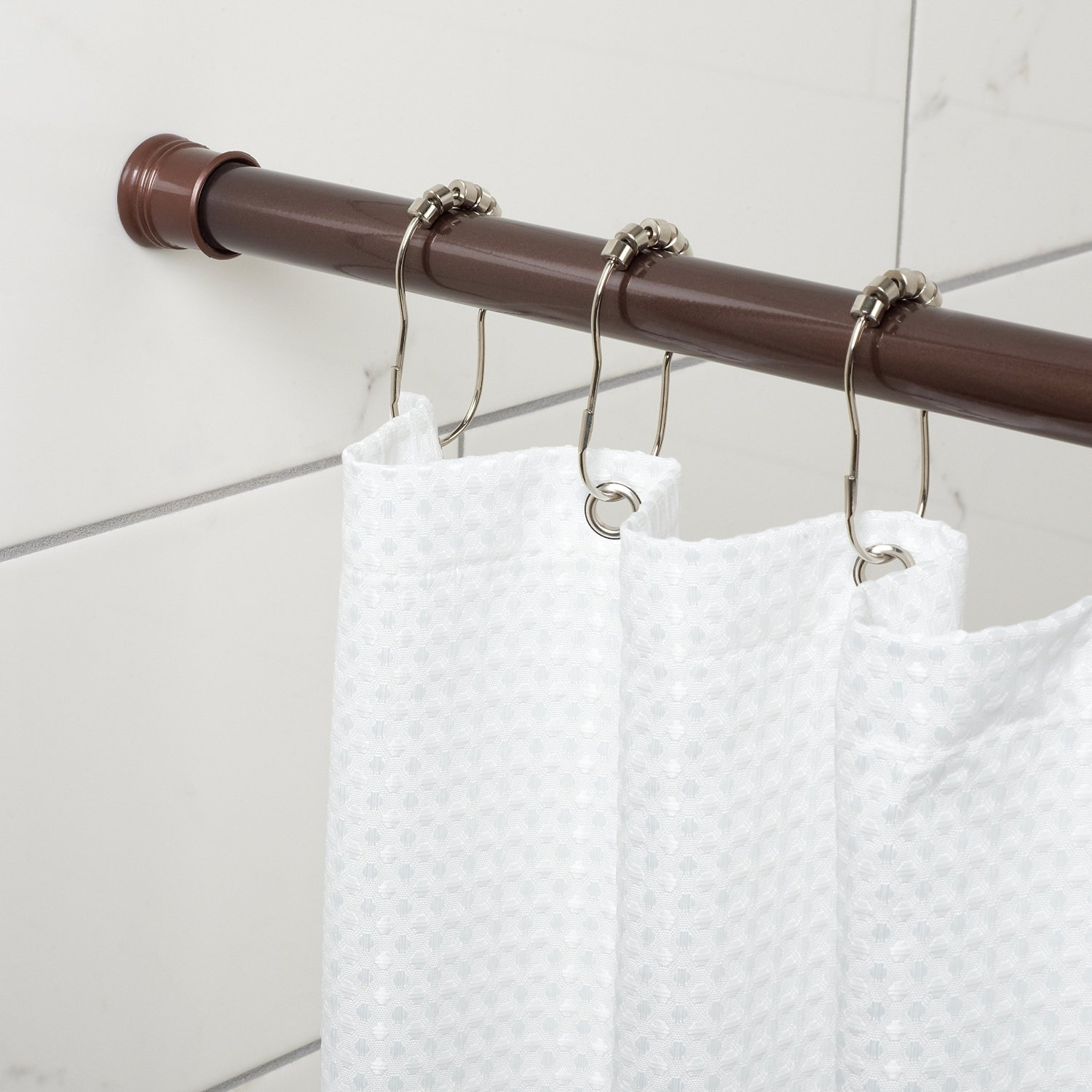 Amazon Adjustable Tension Mount Shower Curtain Rod Straight Oil Rubbed Bronze Home Kitchen