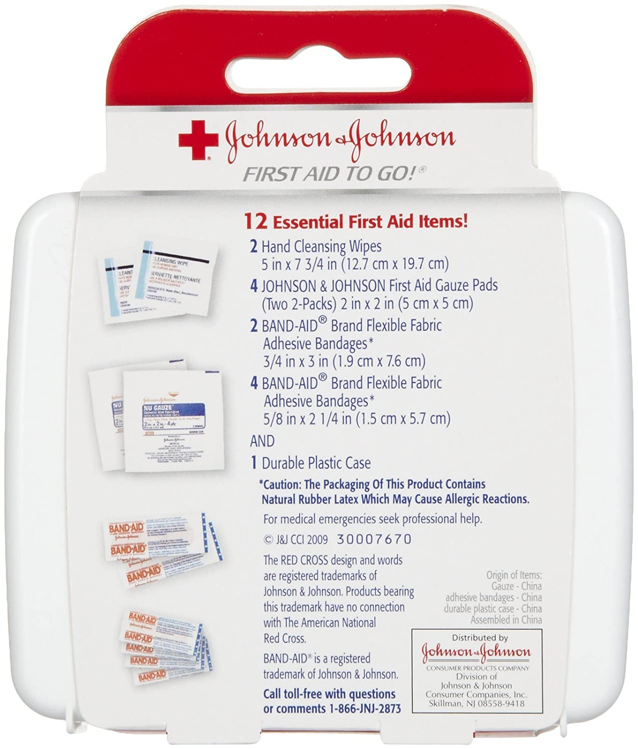 Amazon.com : Johnson & Johnson First First Aid Kit Travel Size (Pack of 3 -- First Aid Kit for Car, Office, Purse) : Beauty