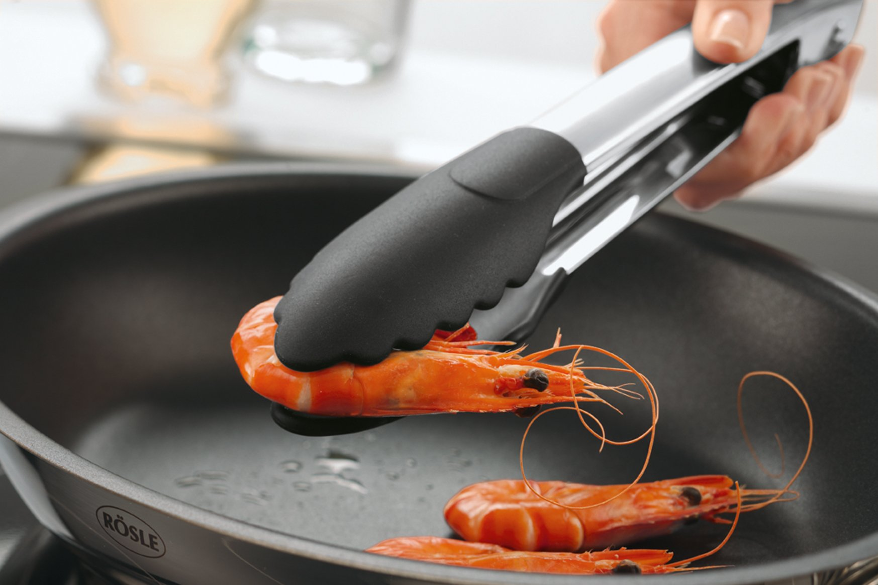 Rosle Stainless Steel Lock & Release Silicone Coated Cooking Tongs, 12-inch by Rosle (Image #4)