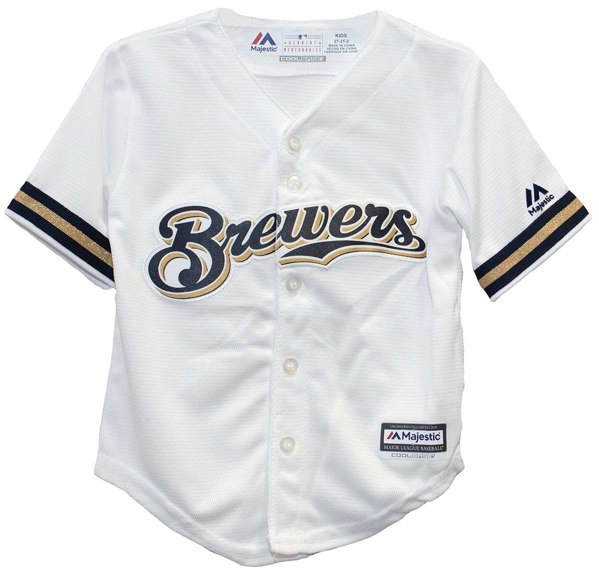 Majestic Toddler Home Replica Jersey - Milwaukee Brewers - 4T