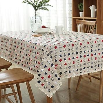 Europeo clásico colorido pentagrama coser manteles pintados patrón mantel tela algodón y lino cubierta toalla , 140*200cm: Amazon.es: Hogar