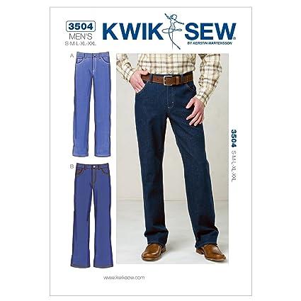 Amazon.com: Kwik Sew K3504 Jeans Sewing Pattern, Size S-M-L-XL-XXL ...