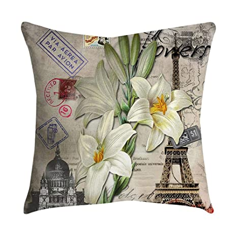 VJGOAL impresión de Moda hogar Decorativo Suave sofá cómodo Cojín Cuadrado Funda de Almohada 4 Piezas Conjunto(45_x_45_cm,Multicolor2)
