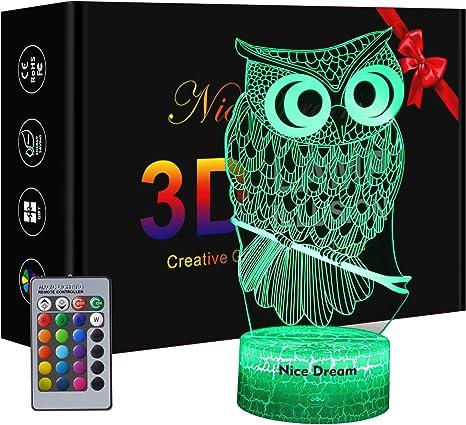 Owl 3D Night Light for Kids