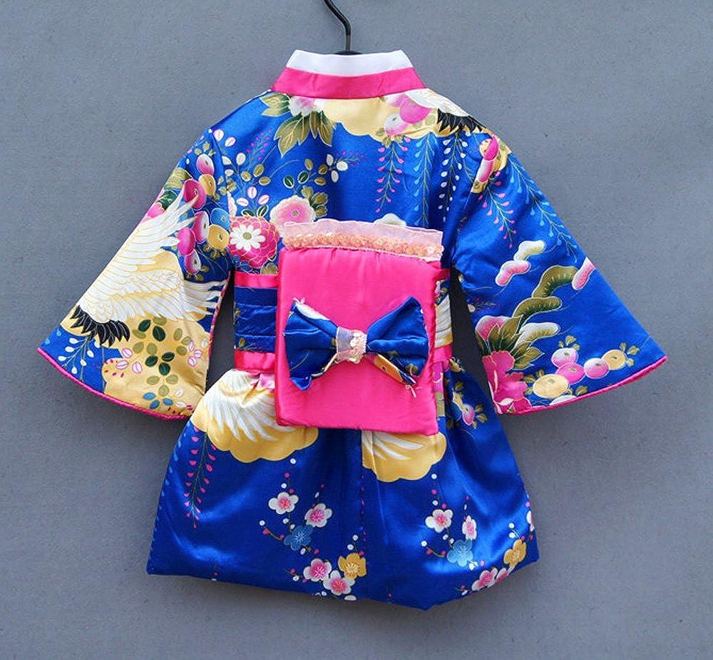 Amazon Com Fancykids Japanese Girls Toddler Baby Kimono Robe Dress