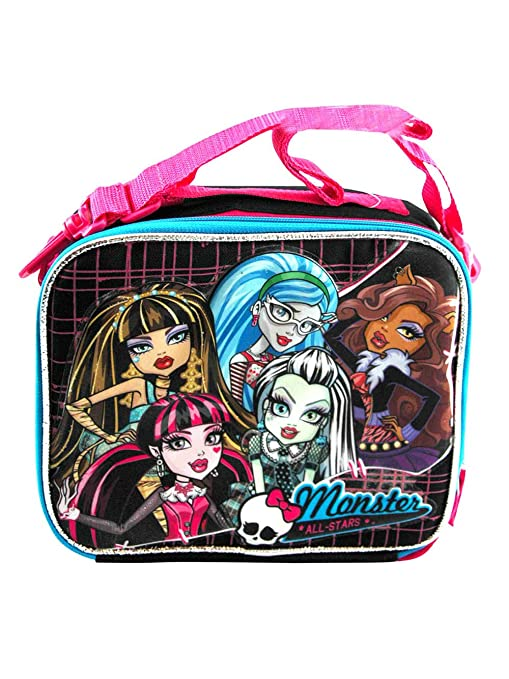 Amazon.com: Bolsa para el almuerzo, diseño de Monster High ...