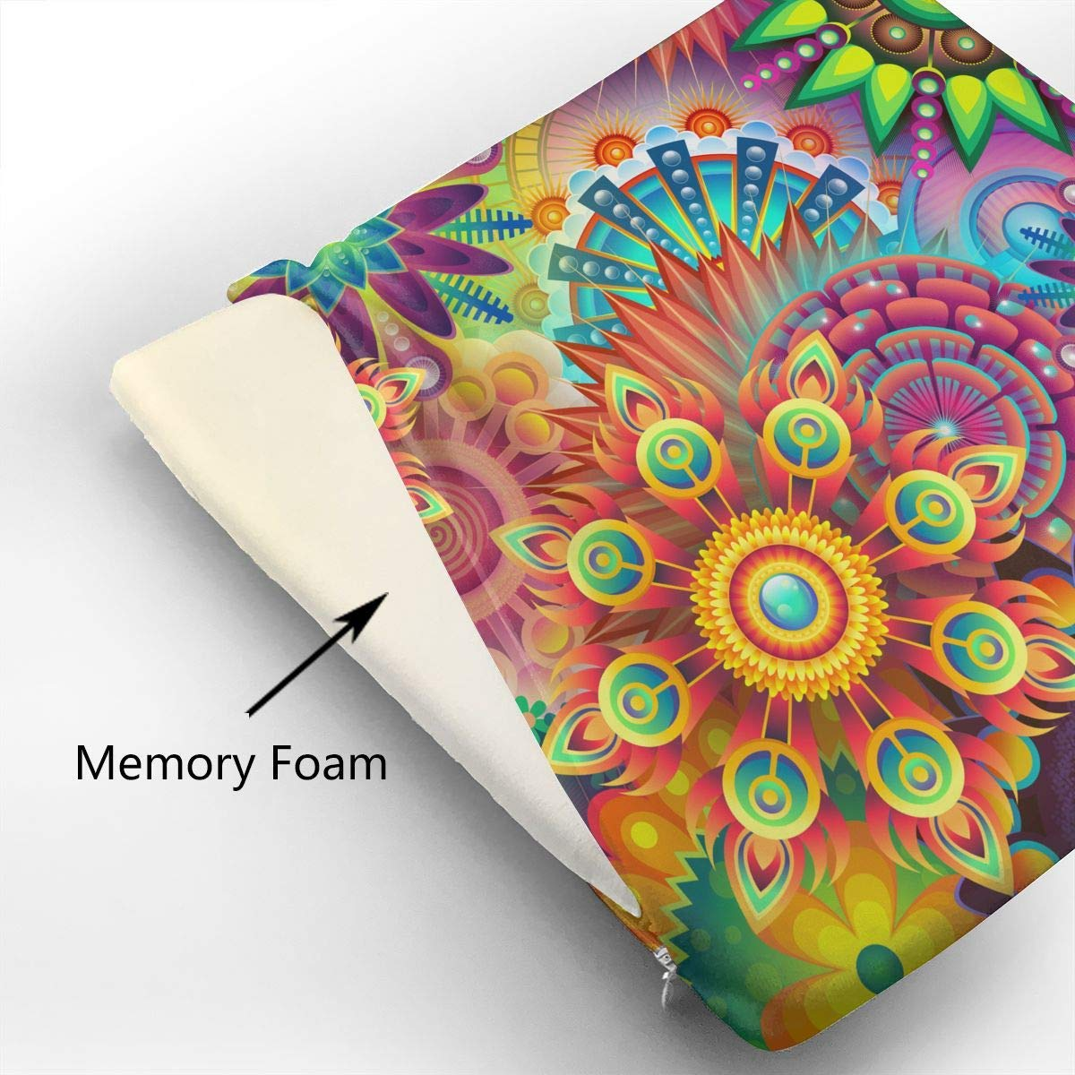 Psychedelic Pattern,Memory Foam Square Chair Pad Cover Fashion Seat Cushion by HOTSELL-Makemoney.forever (Image #3)