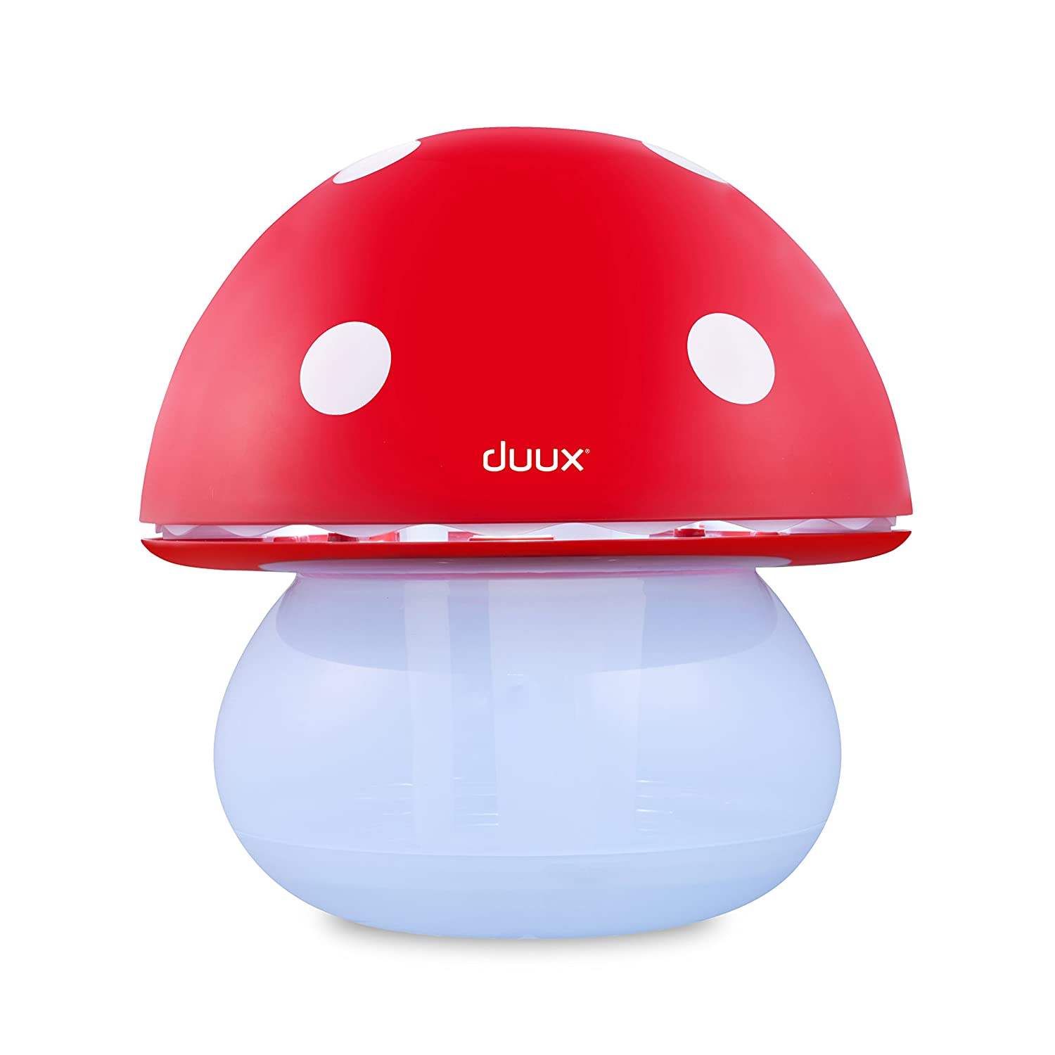 Duux Air Humidifier and Night Light - Mushroom Red DX1000