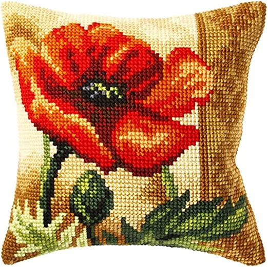 Orchidea Nordic Bear Pillow Cover Stamped Cross-Stitch Kit