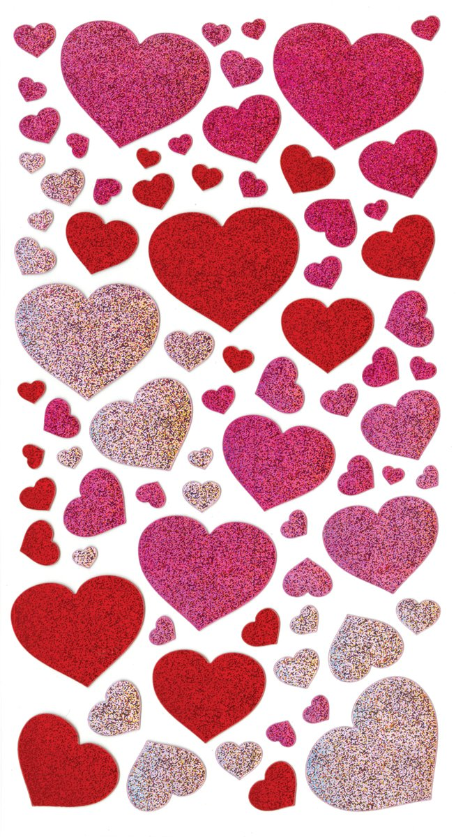 Sticko 52-00067 Blissful Hearts Metallic Stickers by Sticko (Image #1)