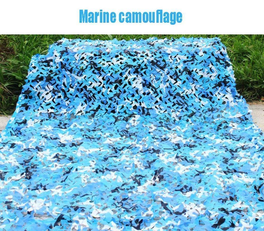 C 10 × 10M Camouflage De Fan Armée Extérieure Filet De Camouflage Anti-aérien Parasol Tente De Chasse Au Camping Tente Armée Filet De Camouflage des Bois Filet D'ombre Durable Et Léger,F-3 × 3M