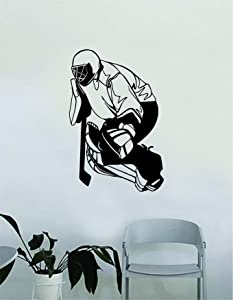 Hockey Goalie V3 Wall Decal Decor Decoration Sticker Vinyl Art Bedroom Room Teen Quote Sports Ice Skate