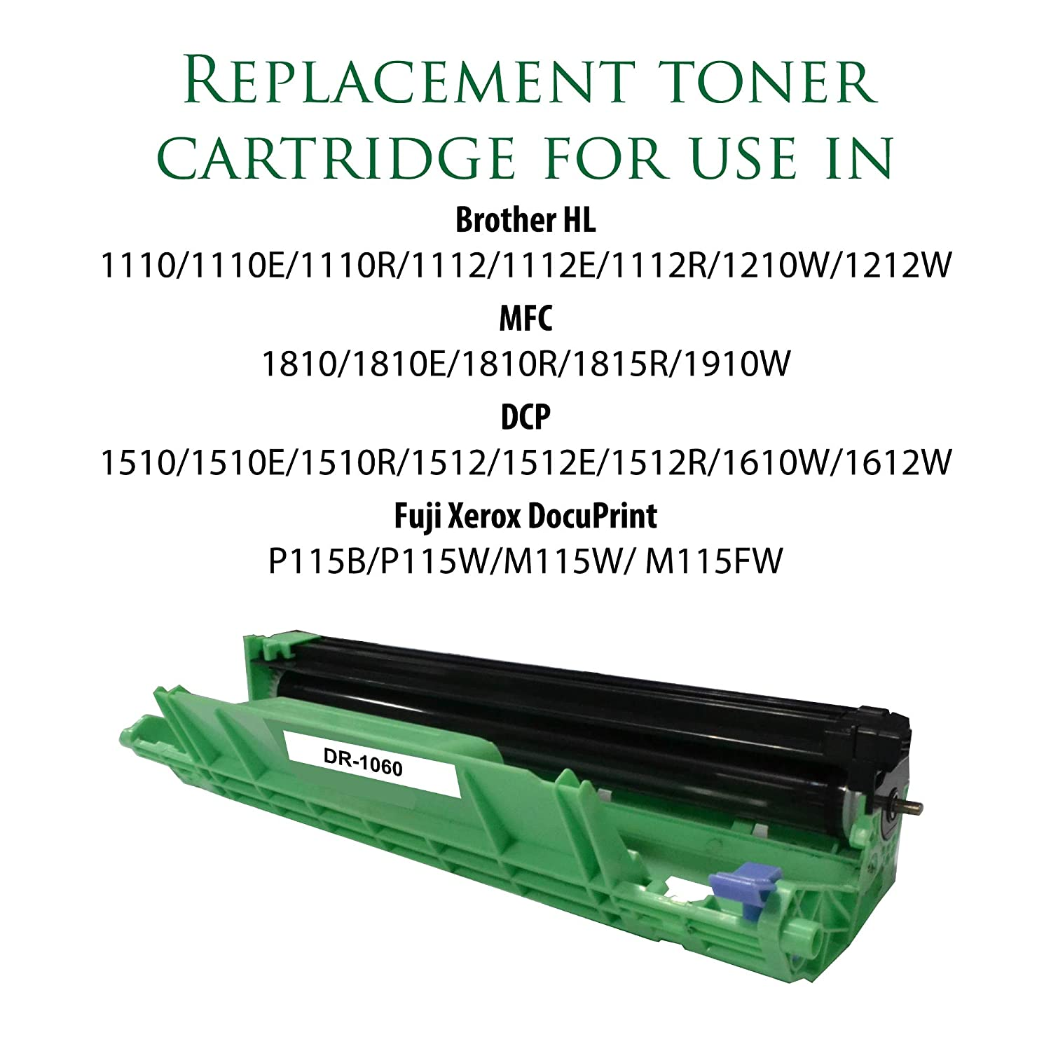 Replacement Toner Cartridge For Dr 1060 Remanufactured Fuji Xerox Docuprint M115w Standard Yield Laser Printer Brother Office Products