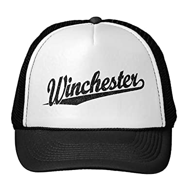 1f4587c1 Image Unavailable. Image not available for. Color: Unisex Black Winchester  Distressed Black Trucker Classic Baseball ...