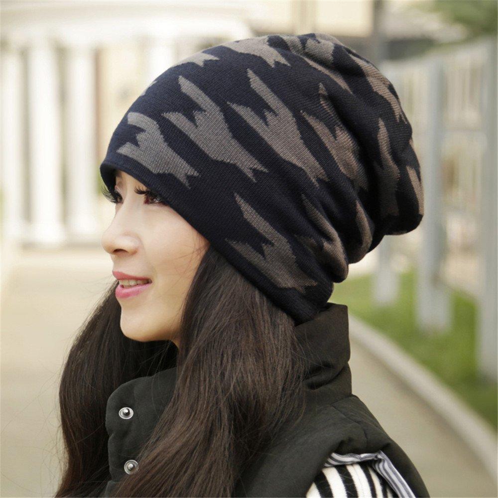 Autunno Inverno hat moda femminile Baotou Caldo berretto lavorato a maglia hat per coppie dello studente Circonferenza testa: 56cm-58cm,con fodera di velluto, di conservazione del calore e di buona elasticità,grigio