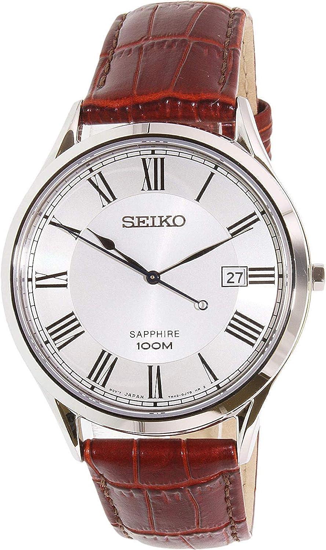 Seiko Reloj de Cuarzo para Hombre con Correa de Cuero – SGEG97P1