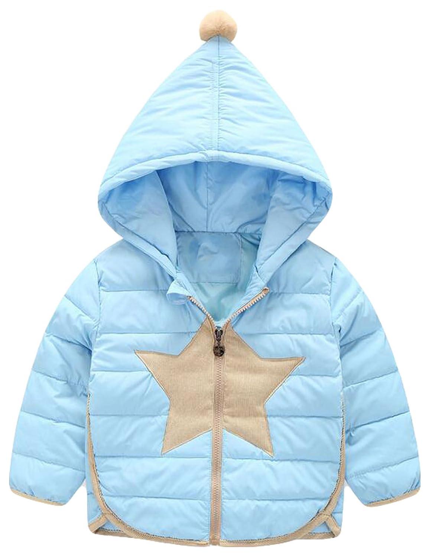bleu XS Arc-en-Couleurs De Bonbons Enfants Veste d'hiver