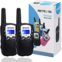 Retevis RT-388 Kids Walkie Talkies 22 Channels Two Way Radio for Kids Toys Long Range with Backlit LCD Display and…