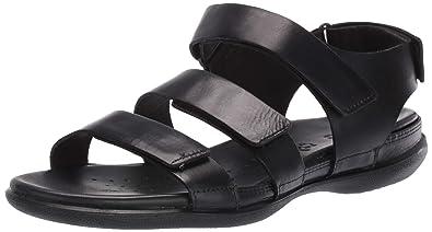 0765fd4b5c4e6 ECCO Women's Women's Flash Strap Sandal, Black, 35 M EU (4-4.5