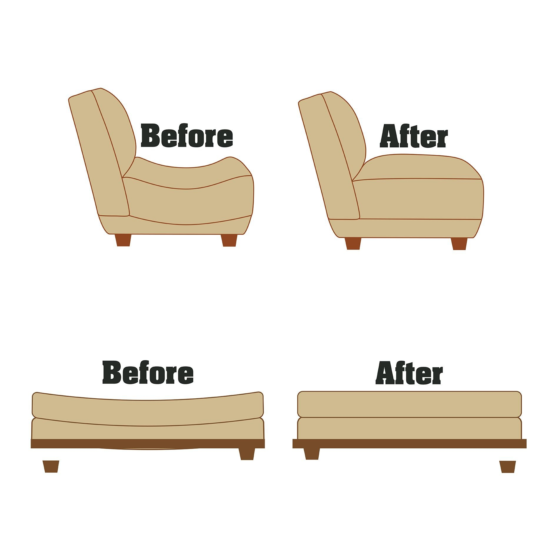Furniture Fix - Set of 12 - Support for Sagging Love Seat by Furniture Fix (Image #6)